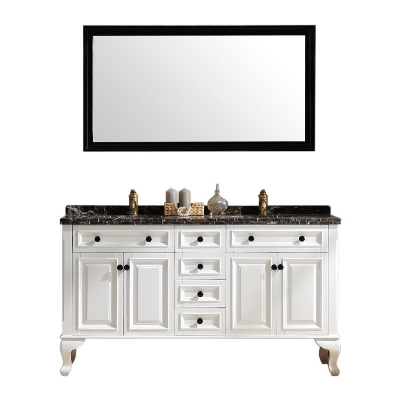American style bathroom cabinet floor-standingsolid wood bathroom vanity antique washbasin combination