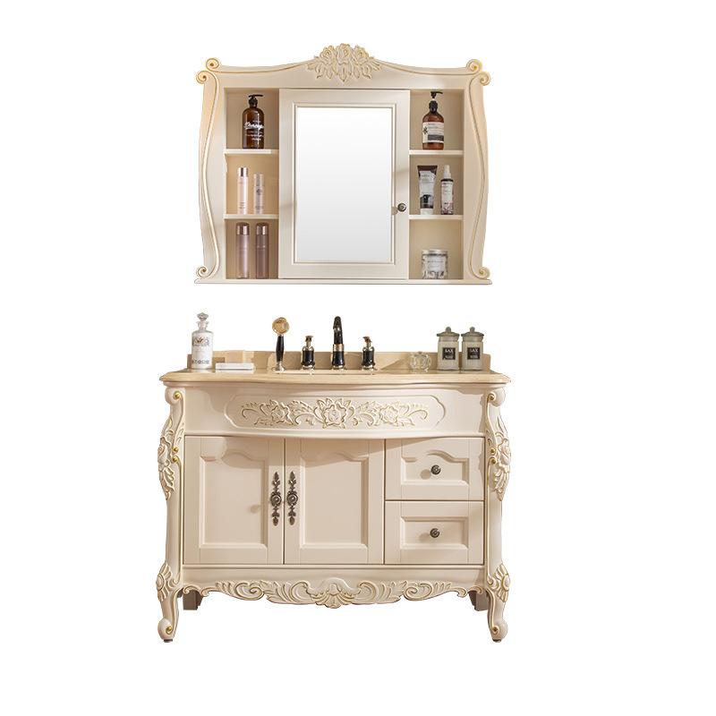 European-style bathroom cabinet solid wood toilet waterproof washbasin cabinet large family bathroom cabinet factory custom-made