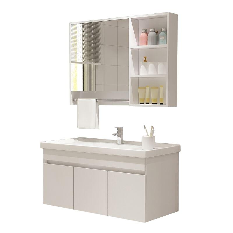 Bathroom Modern Mirrored Cabinet,Corner Bathroom Vanity Sink Base Cabinet