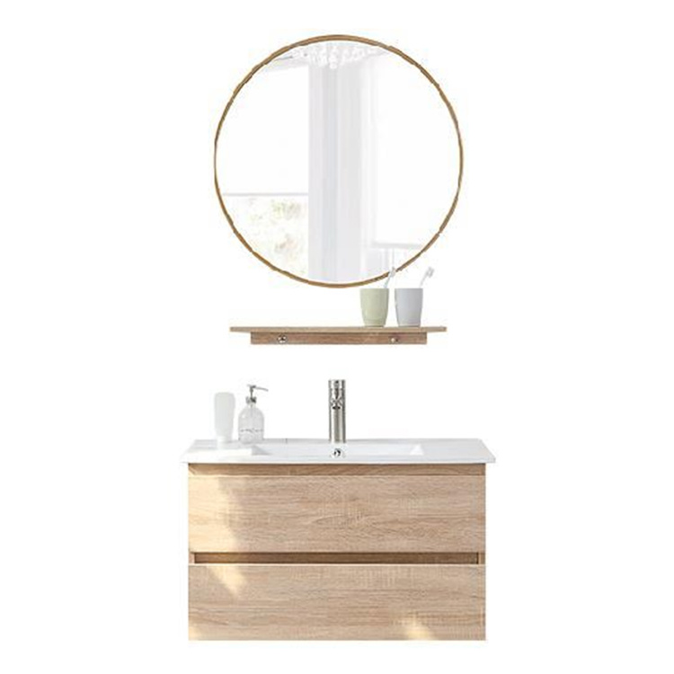 Luxury Wall Hung Bathroom Bath Vanity Basin Cabinet Accessories With Vanity Mirror