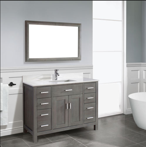 French Antique Style Solid Wooden Bathroom Furniture Vanity