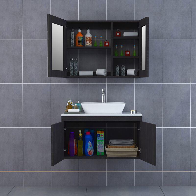 Waterproof Double Basin French Antique Bathroom Vanity Cabinet