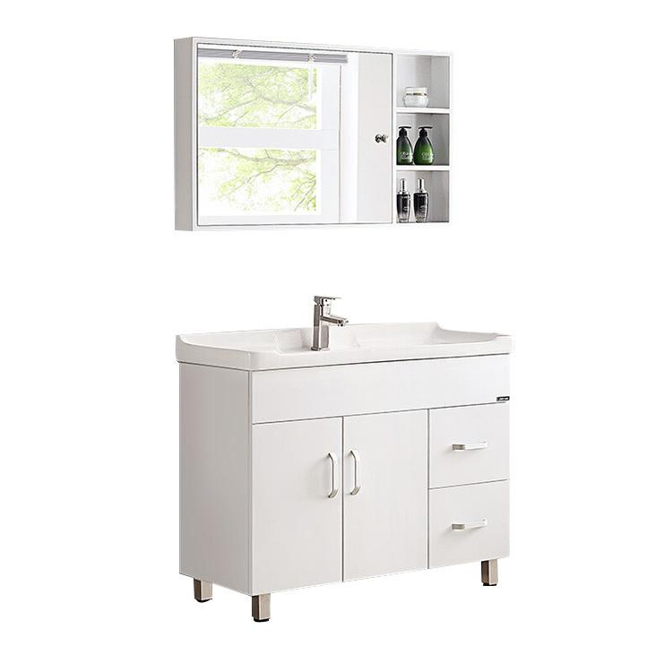 High Quality Euro Style Selections Bathroom Vanities White Solid Wood Bathroom Vanity