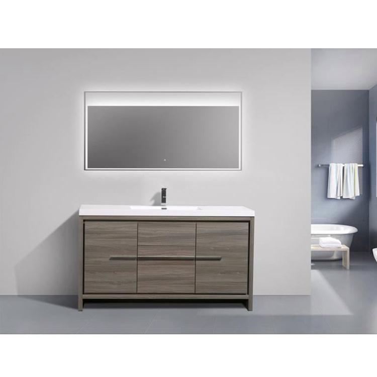 Water Resistant Mirror Bathroom Cabinet Luxury Furniture