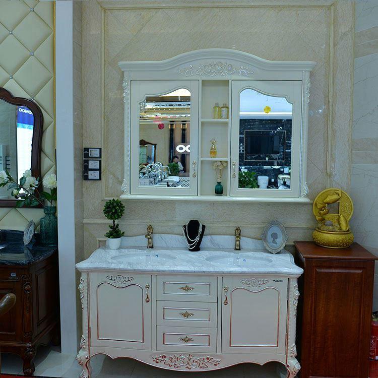 Wall Mounted White Bathroom Vanity Unit,Wood Vanity Bathroom
