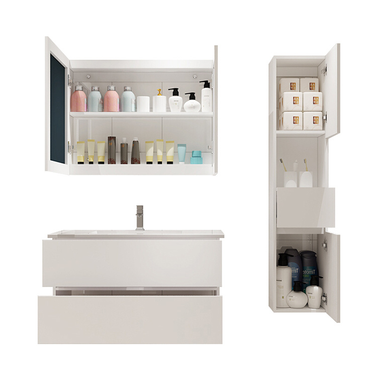 Wholesale apartment customized luxury bathroom vanity with sink