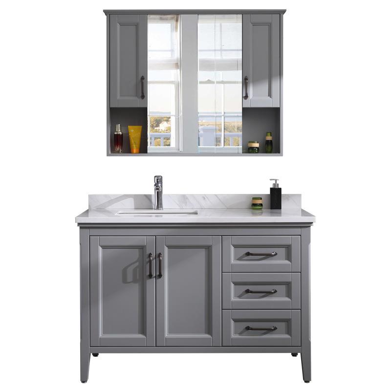 Bathroom cabinet combination mirror cabinet bathroomwash basin of counter top cabinet solid wood european-style bathroom cabin