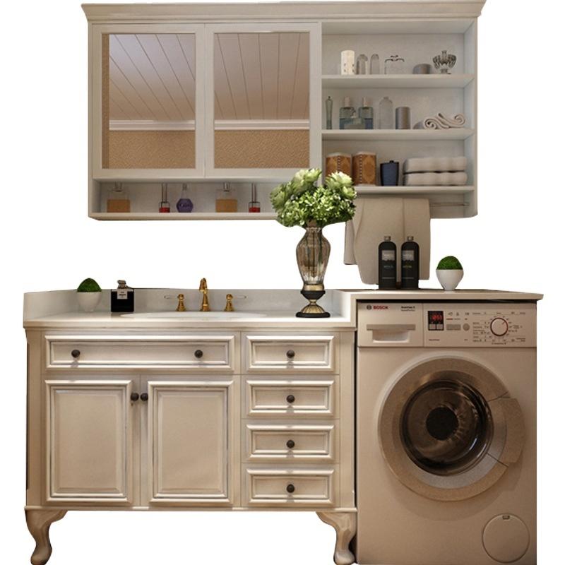American bathroom vanity combination floor-standing bathroom cabinet wash basin sink solid wood bathroom integrated E0 level