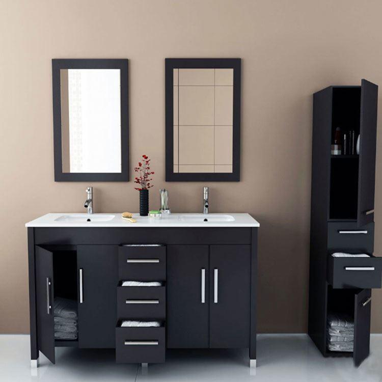 High Quality Rustic Solid Wood Bathroom Sink Cabinet