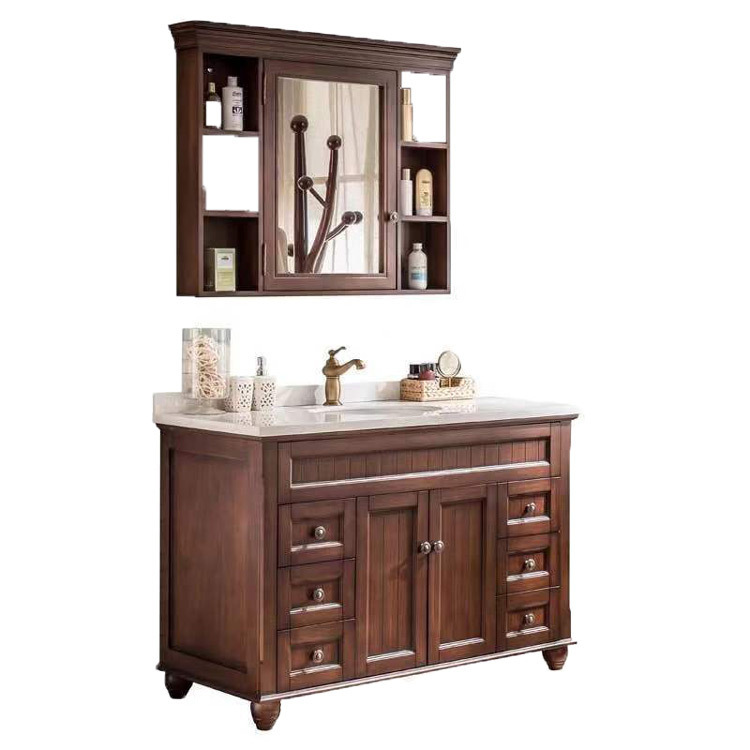American style solid wood Bathroom cabinet combination made in china