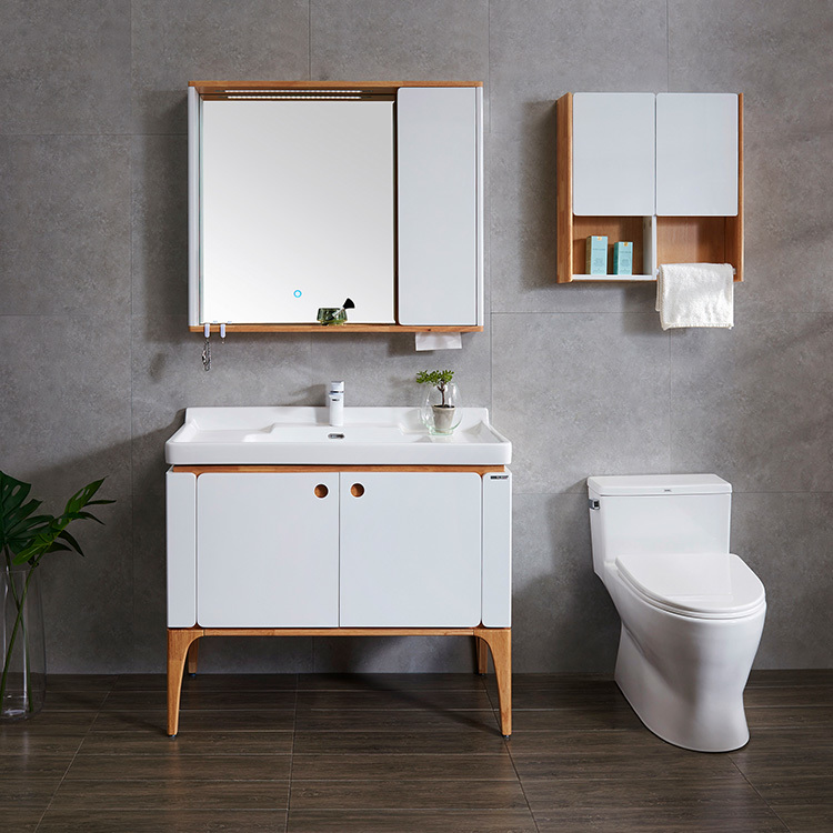 White Style Customized Bathroom Cabinet Floor Bathroom Cabinet Dressing table Made in China