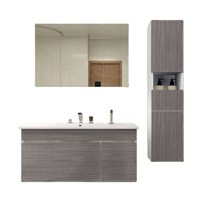 Made In China Custom Color Vanity Mirror Wooden Bathroom Cabinet Modern