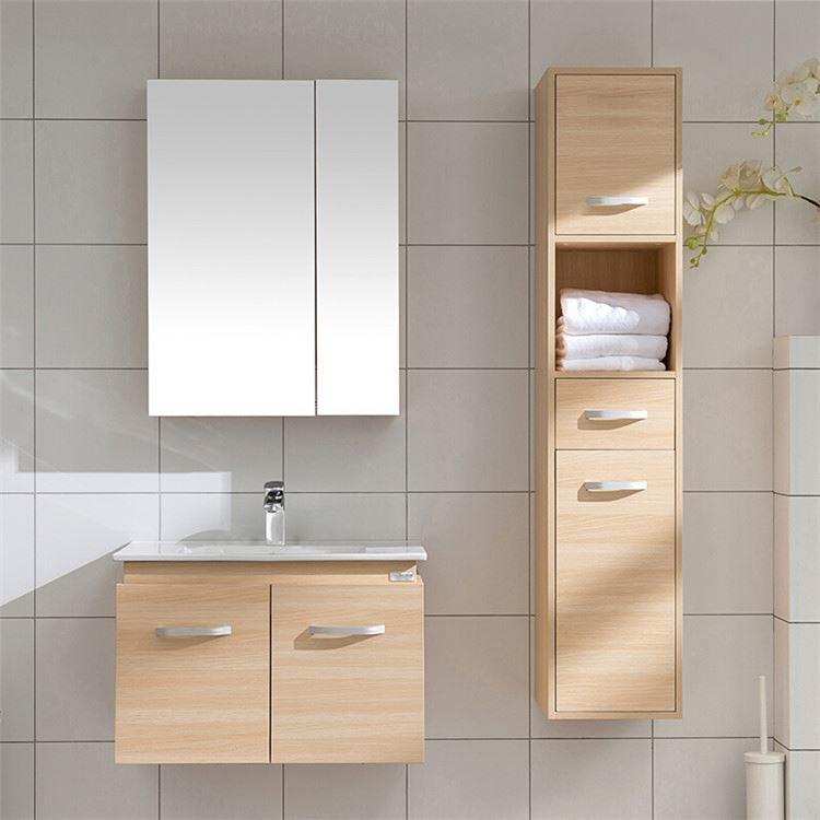Solid Wood Modern Design Simple Bathroom Vanity Cabinet