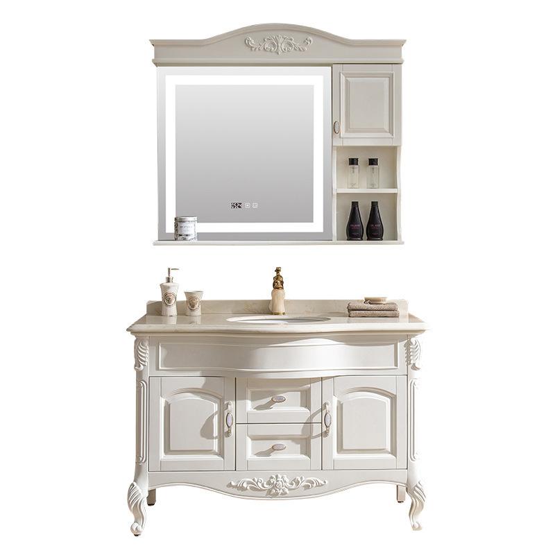 Washbasincabinet combination bathroom floor-standing custom American solid wood smart mirror cabinet bathroom vanity