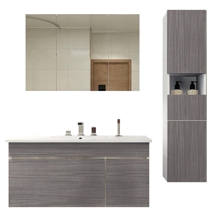 High Grade Wholesale Apartment Solid Wood Modern Bathroom Vanity Cabinet