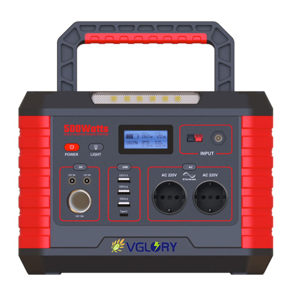 excellent longlife 110v 220v ac dc portable power mini station 500w