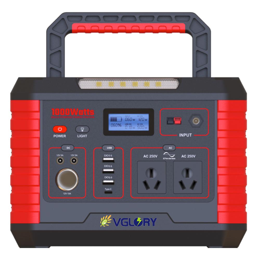 china good price ac dc 500w portable energy storage generator home solar power supply system