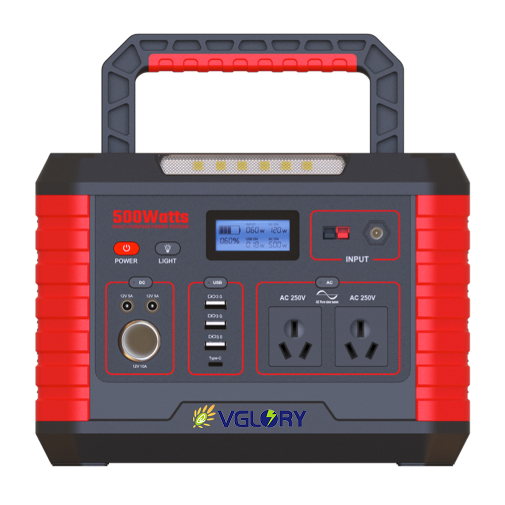 super fashion emergency 500w portable ups power station box 12v ac dc for laptop