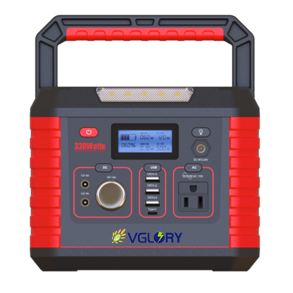 compact and light weight 500w portable 220v energy storage battery power station solar supply