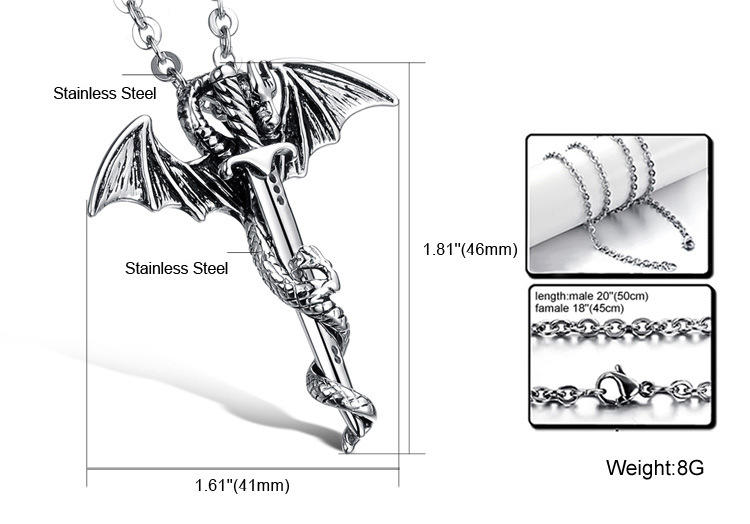 Sword Shape Cool Adornment Unisex Fashion Mens Necklace