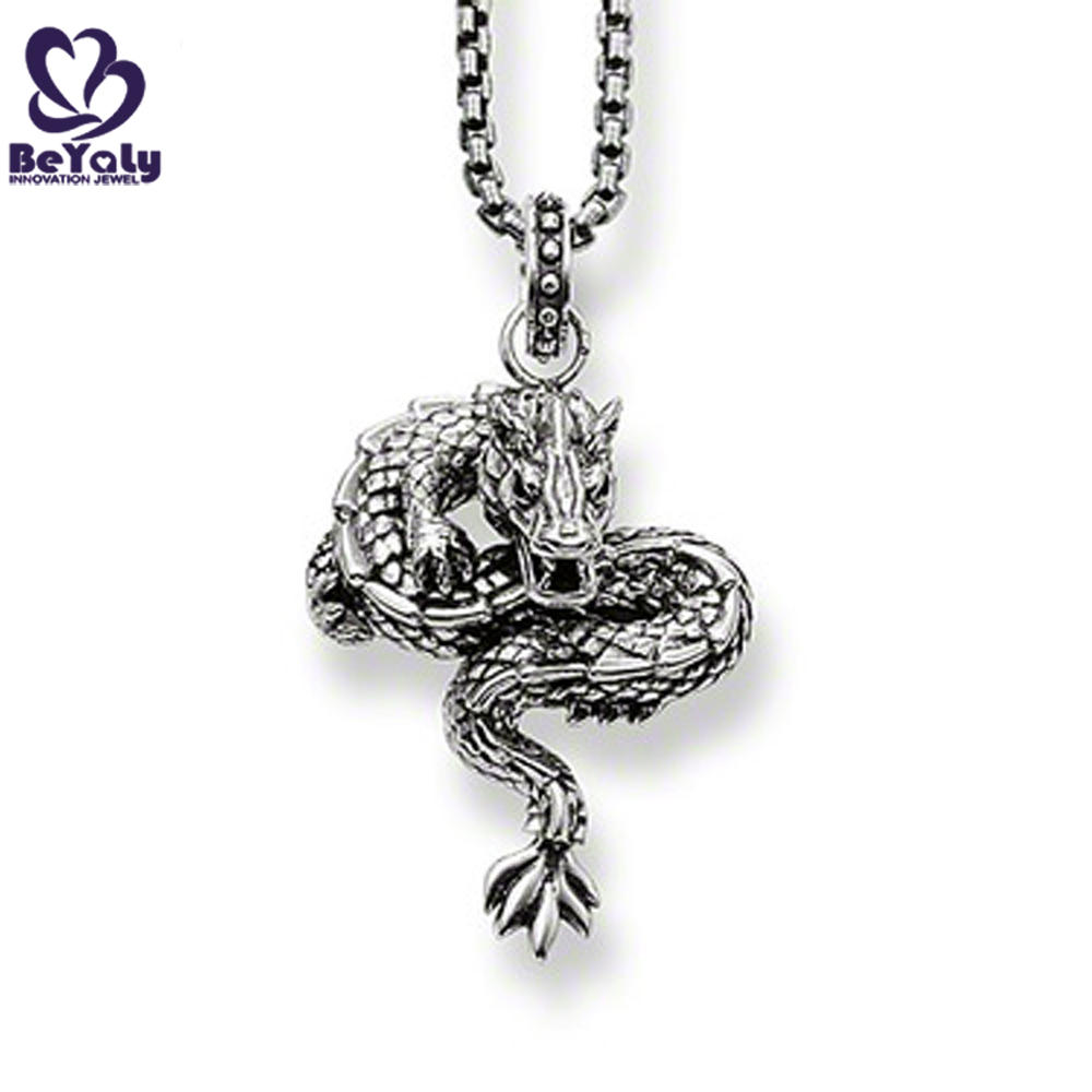 Personality dragon shape different types of pendant chains jewelry