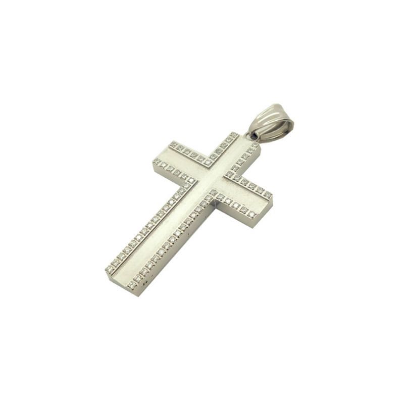 Custom Charm Stainless Steel Cross Pendant, New Fashion Necklace Accessories, Tag Jewelry Wholesale