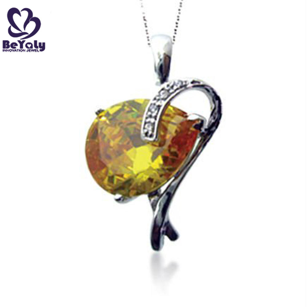 Wholesale girls yellow amber fashion accessory necklace
