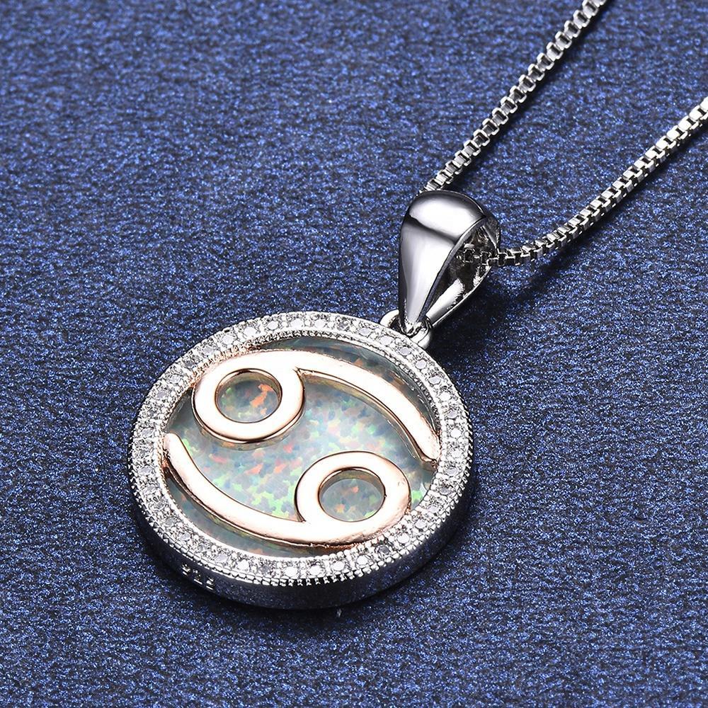 Cancer Birth Sign Jewelry 925 Silver Zodiac Pendants