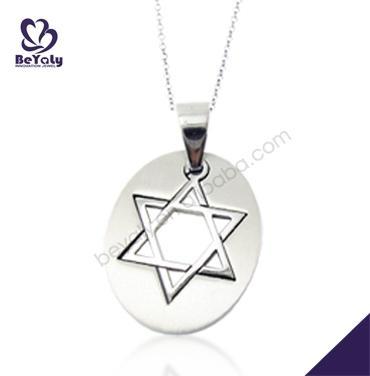 Quality Fashion oval shape carved metaza pendants