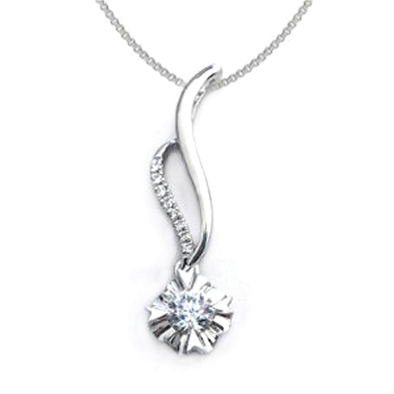 Shiny cubic zircon silver elegant jewels necklaces