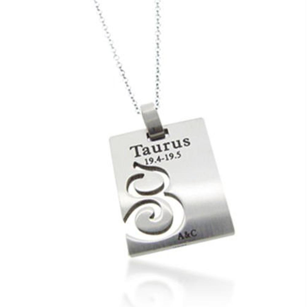 Zodiac tungsten pendants for the Taurus star signs