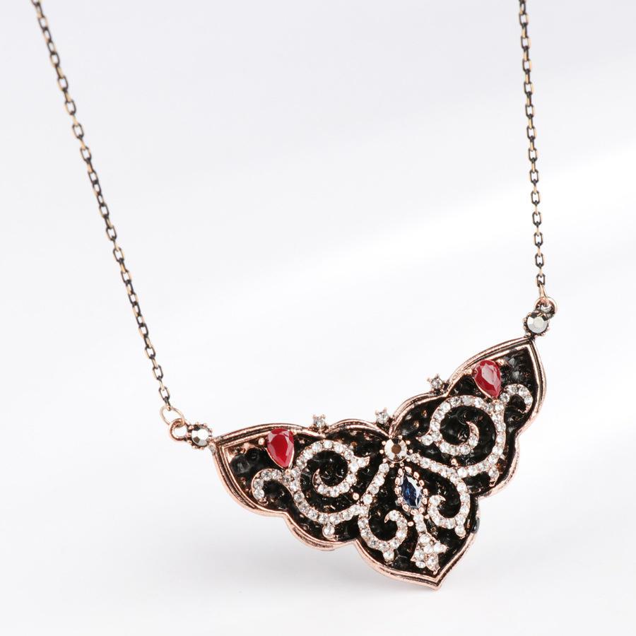Retro Bohemian Style Triangular Ladies Large Pendant Necklace