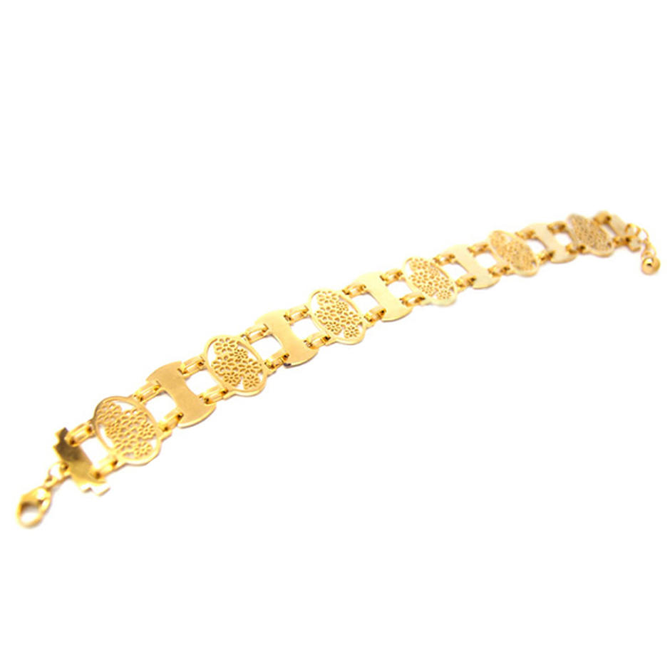 Oval Shape Flower Cluster Design Gold Plated Yiwu Jewelry