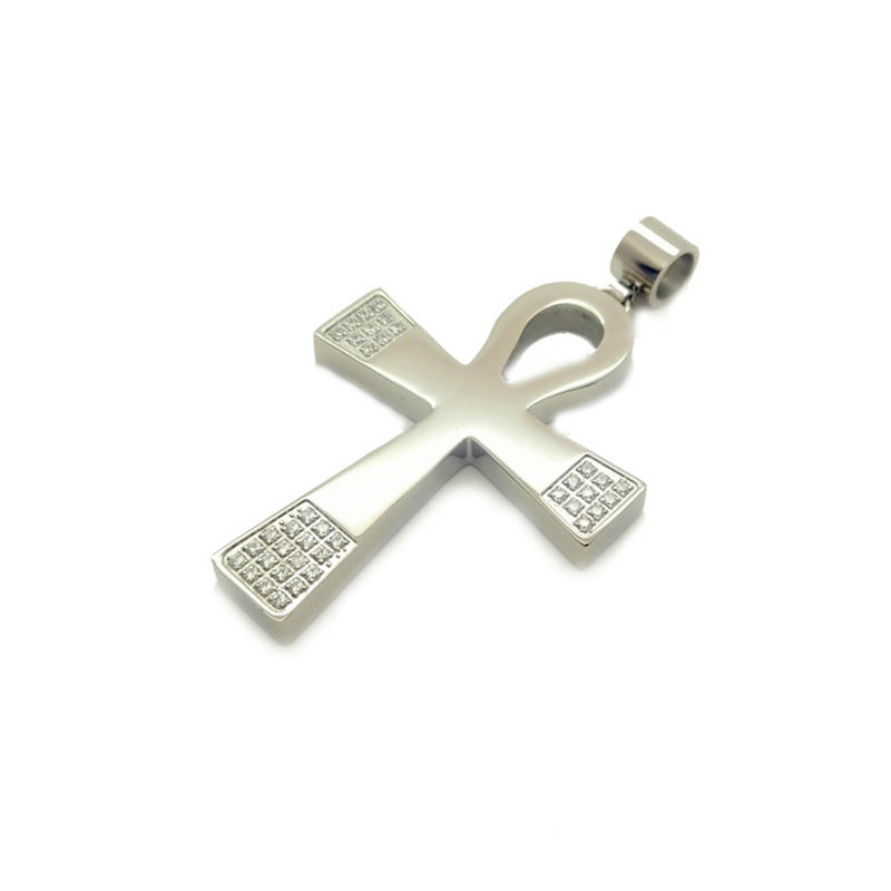 New Fashion Custom Charm Stainless Steel Cross Pendant Tag Jewelry Wholesale