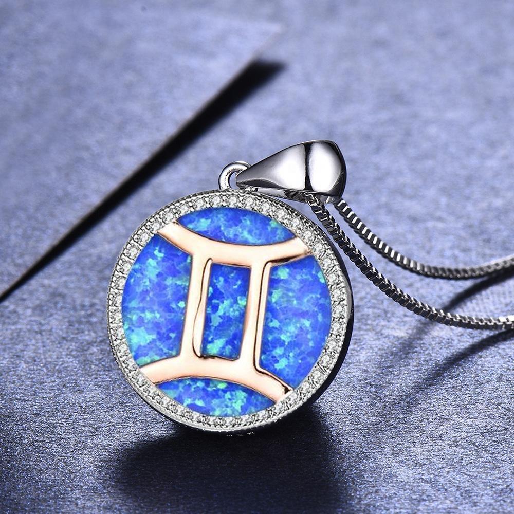 China Wholesale Gemini Zodiac Sign Necklace Pendant