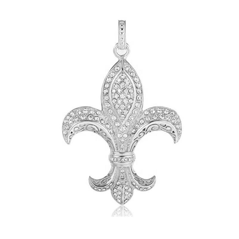 Stainless Steel Flower-De-Luce Pendant, Fashion Jewelry Wholesale