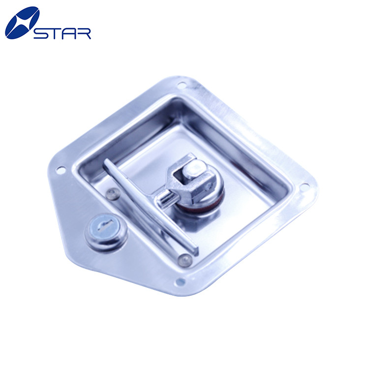 new stainless steel Heavy duty trailer cabinet paddle lock