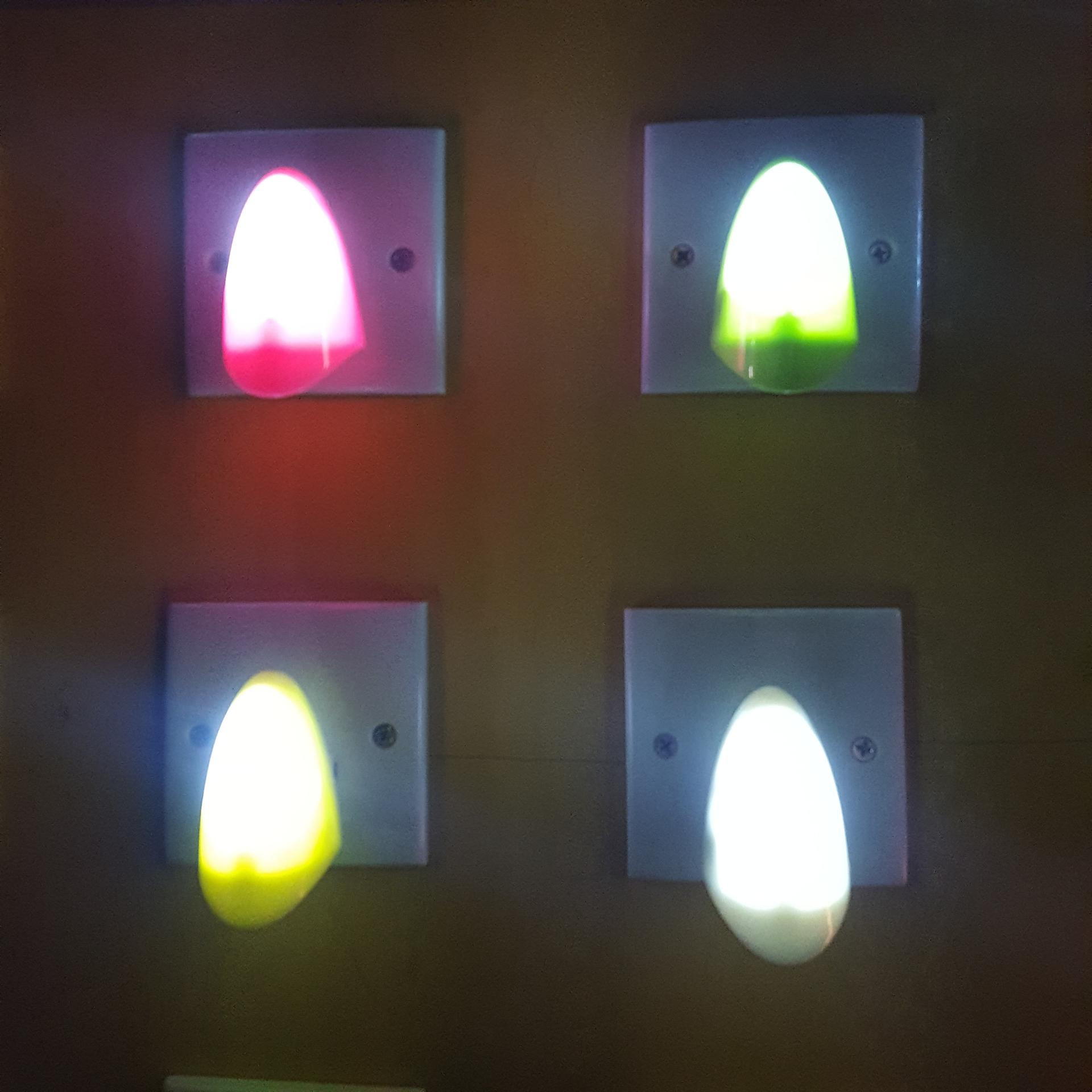 A50 OEMled abs material sensor PLUG IN night light lamp for bedroom hallway
