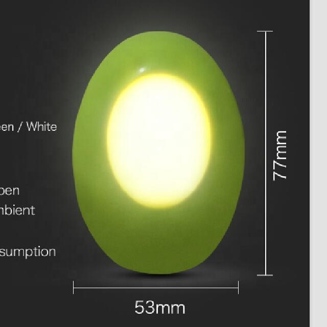A52 CE ROHS 220V Gift led sensor baby kids plug in EU plug dusk to dawn night light lamp for bedroom hallway