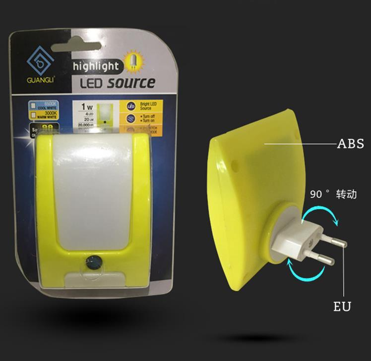 A60-K 220V LED wall lamp EU SAA BS PLUG IN night light for baby kids bedroom room light