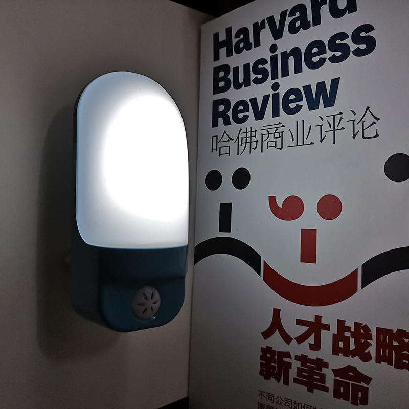 A88 EU UK Flat plug mini sensor control ABS material dusk to dawn night light lamp for room