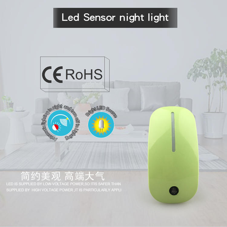 A66 mouse shape CE ROHS CB LED sensor control Auto plug in night light for lighting kids
