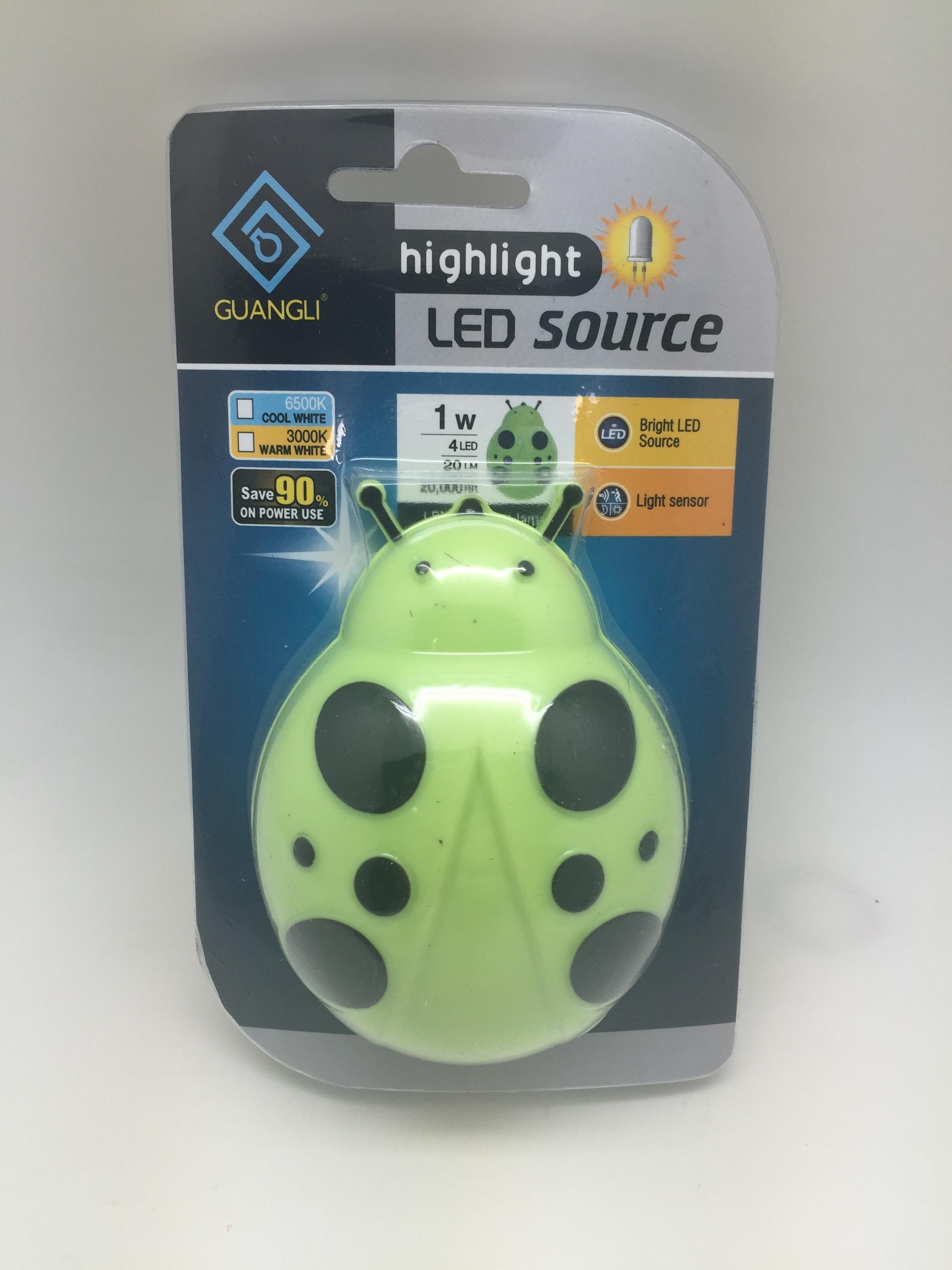 A62 OEMBeetle sensor animal shape plug in night light lamp for bedside baby kids