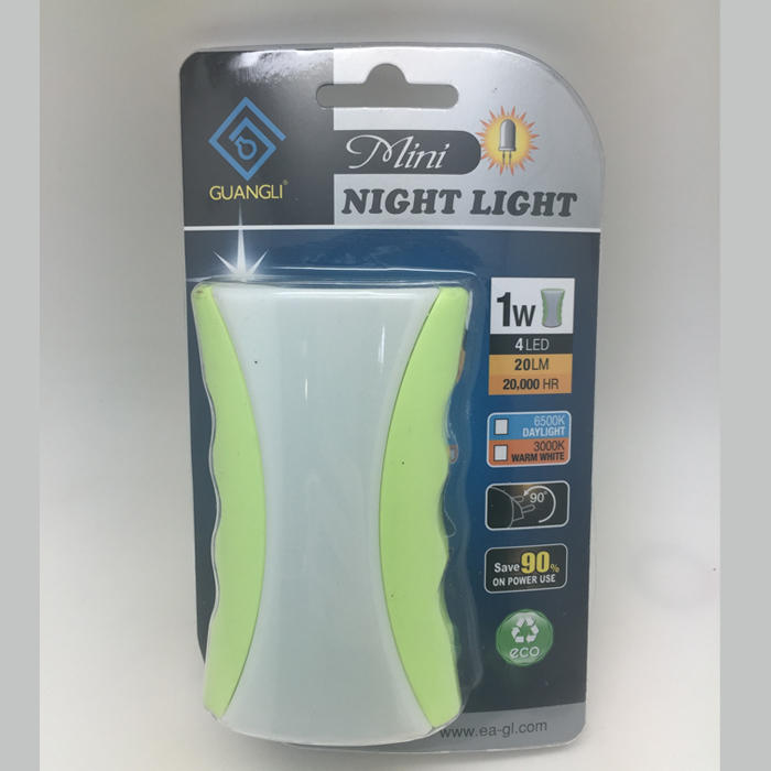A64 OEM dusk to dawn plug in LED mini sensor ABS material night light