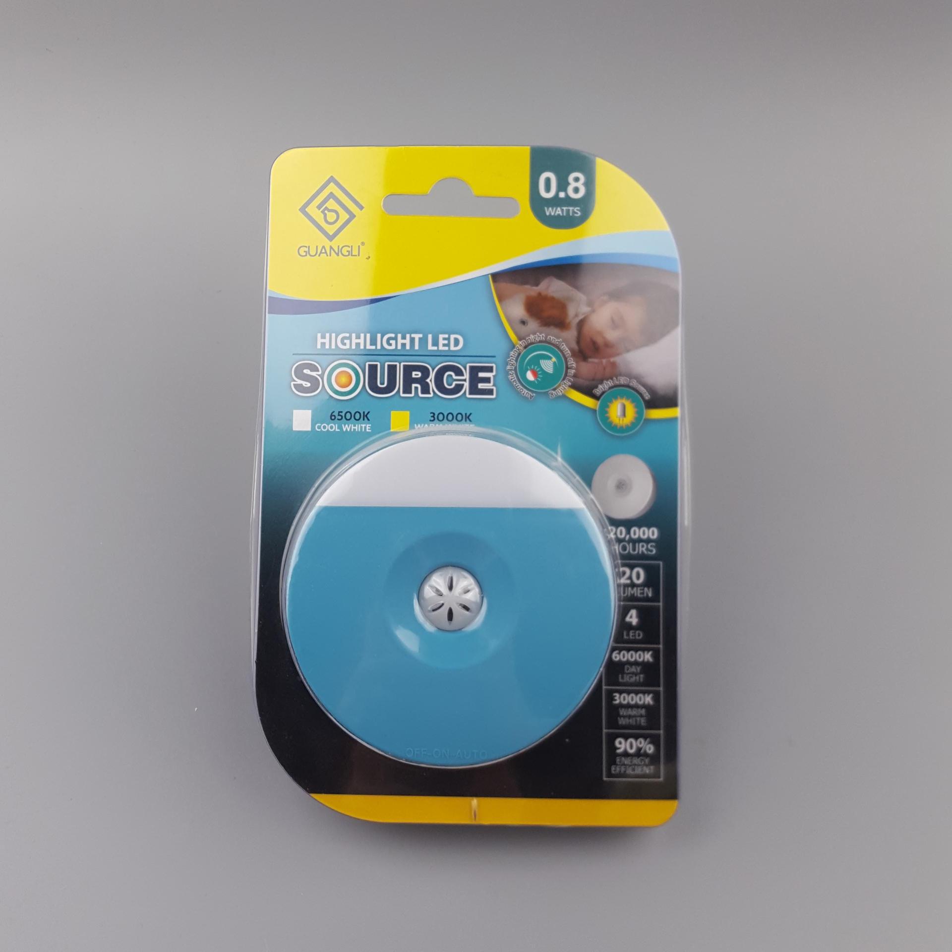 plug in Night Light Auto Sensor Control Lamp Bedroom hallway Light A82 CE ROSH BS Wall LED