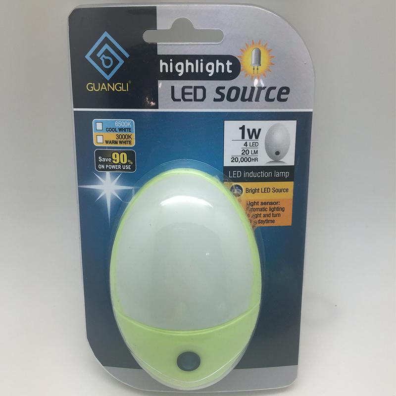 A58 sensor BS EU SAA USA plug in LED mini Dusk to Dawn night light for bedroom