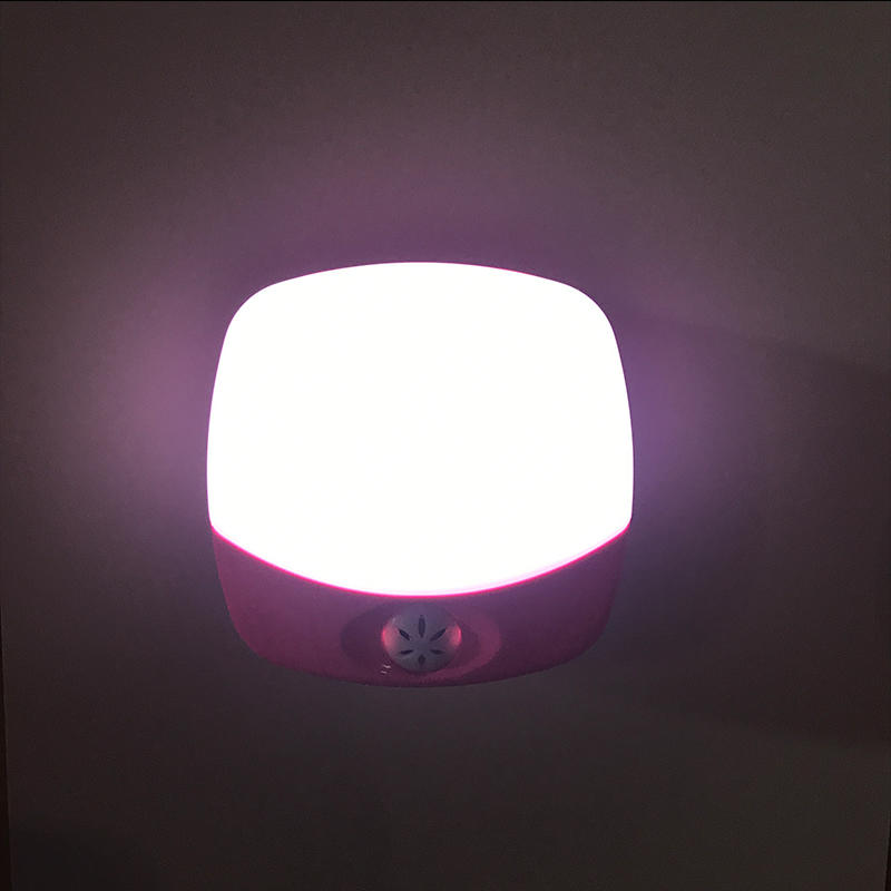 CE induction sensor baby kids LED Plug in night Light OperatedSquare Wall Lamp with Dusk to Dawn EU BS plug OEM