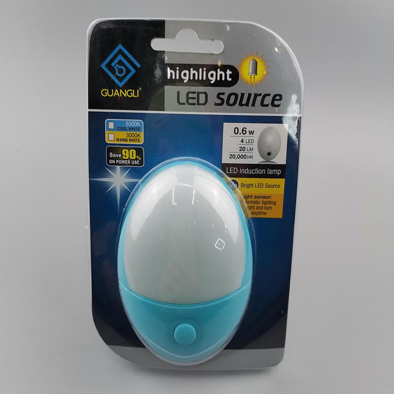 Popular A58-K switch on/off plug in LED mini night light for bedroom kids night light