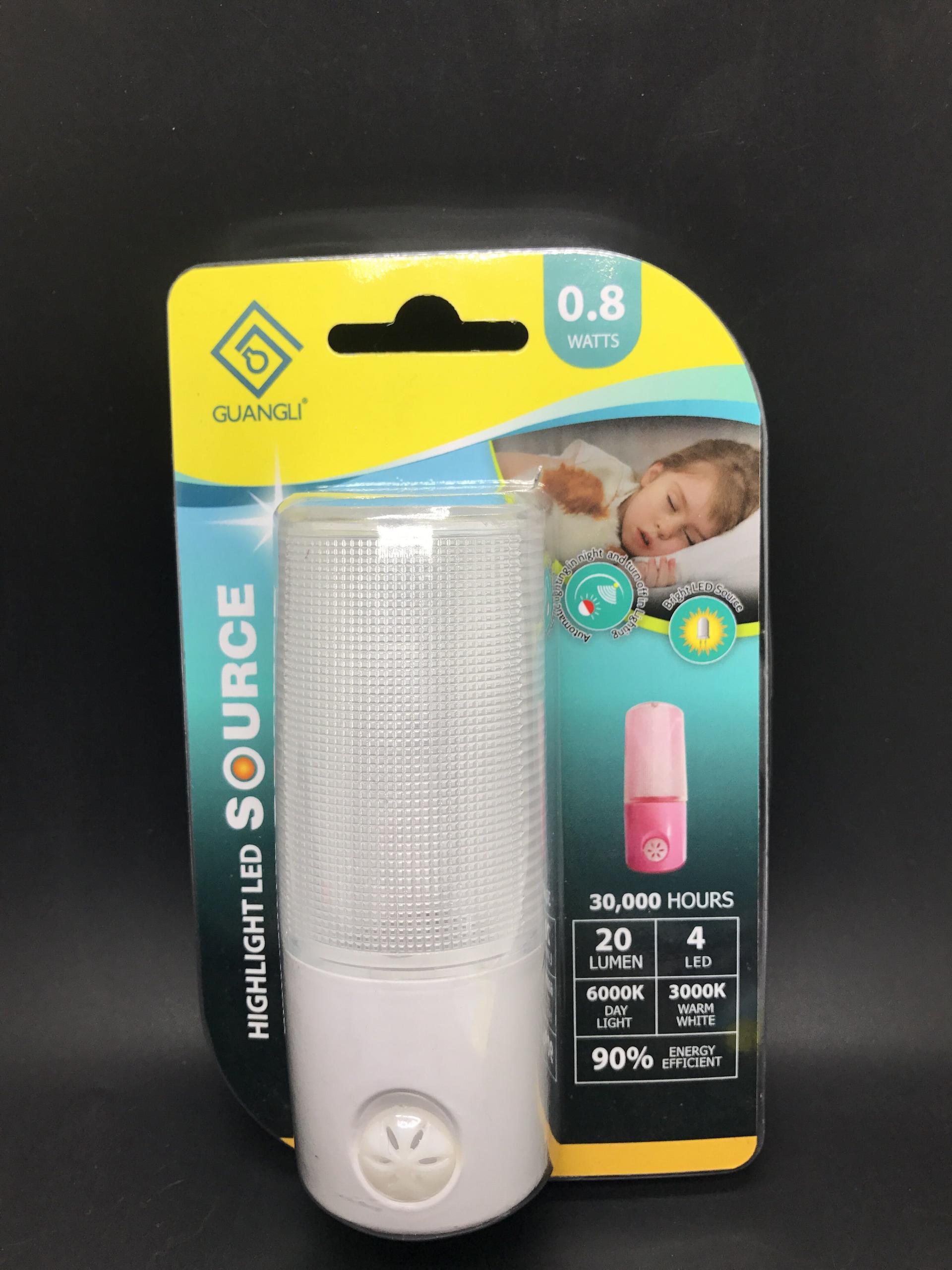 A86 OEM Dusk to Dawn Sensor Cool White BS EU Plug in led sensor night light Low Energy for kids bedroom hallway