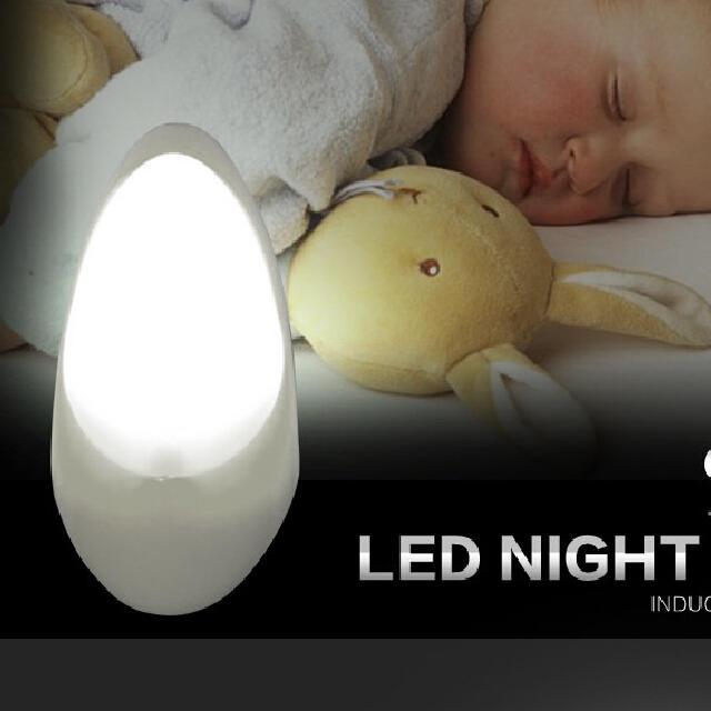 A50 led sensor plug in water drop shape plastic material night light lamp for bedroom hallway Gift